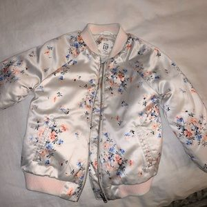 Baby gap kids toddler beige floral puffer jacket 4